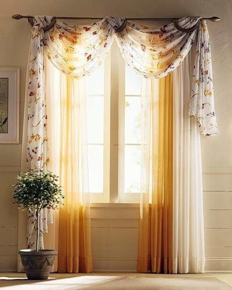 Living room curtains - 25 methods to add a taste of royalty to ...