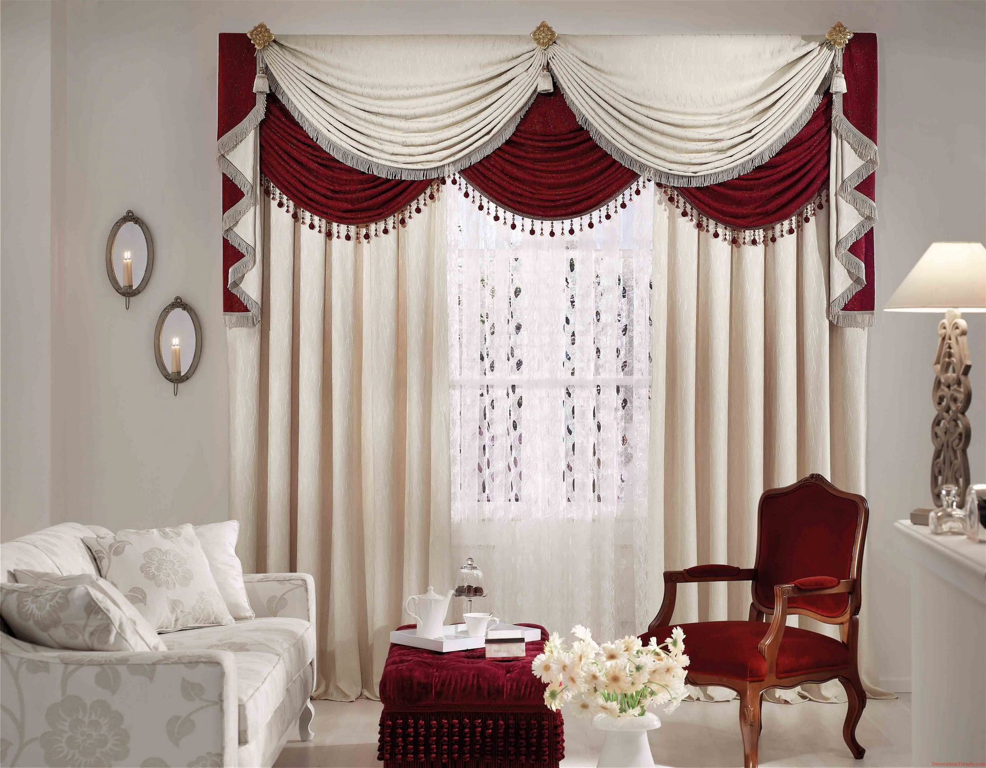 Printed Curtains Living Room Living Room Curtains 25 Methods To Add A Taste Of Royalty To