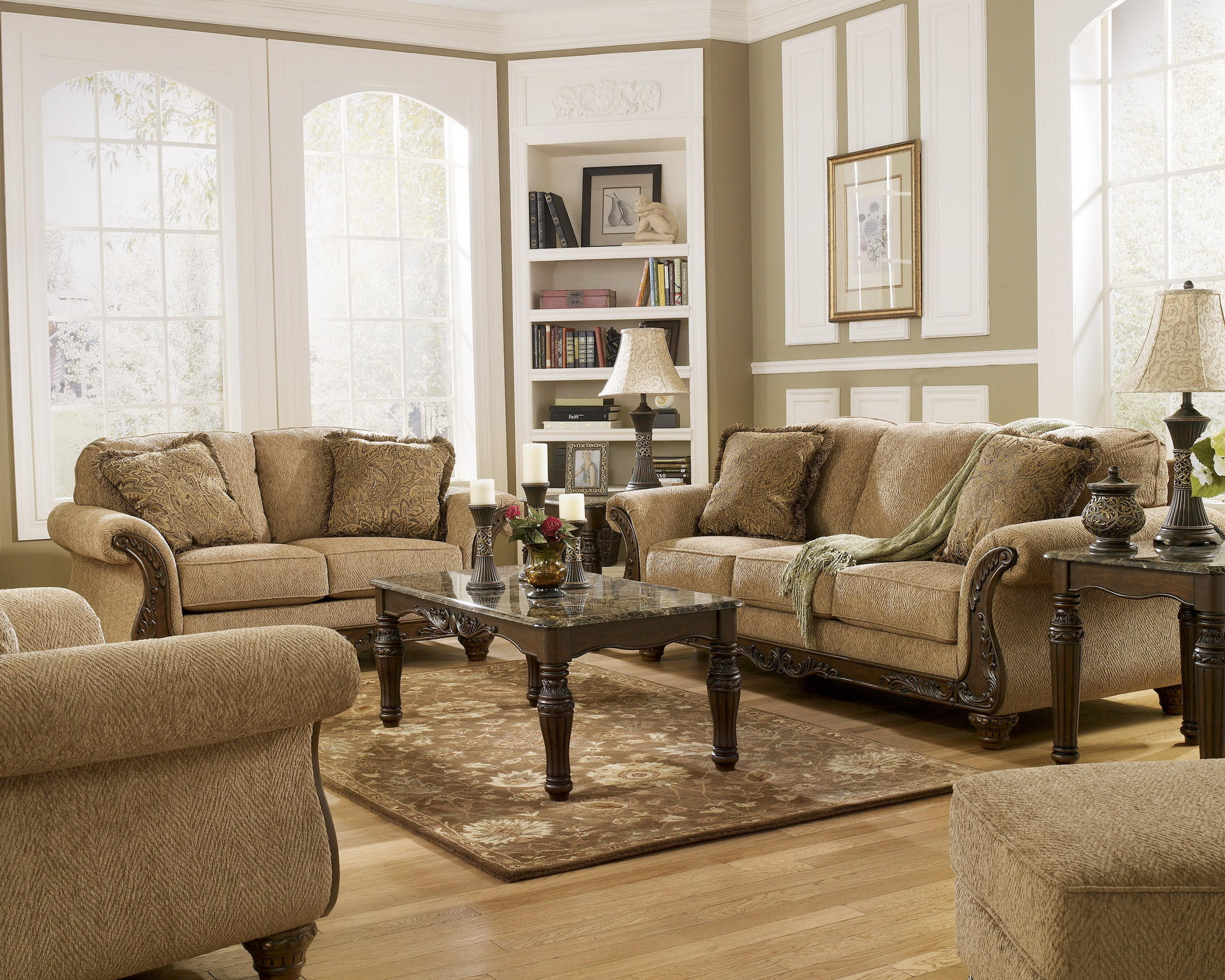 25 facts to know about ashley furniture living room sets for Furniture living room set