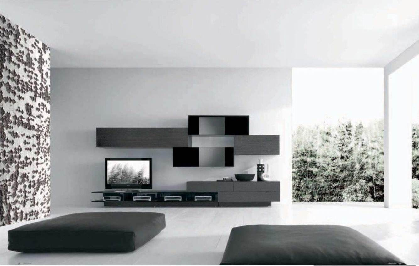 52 ideas of black and white living rooms hawk haven for Modern living room black and white