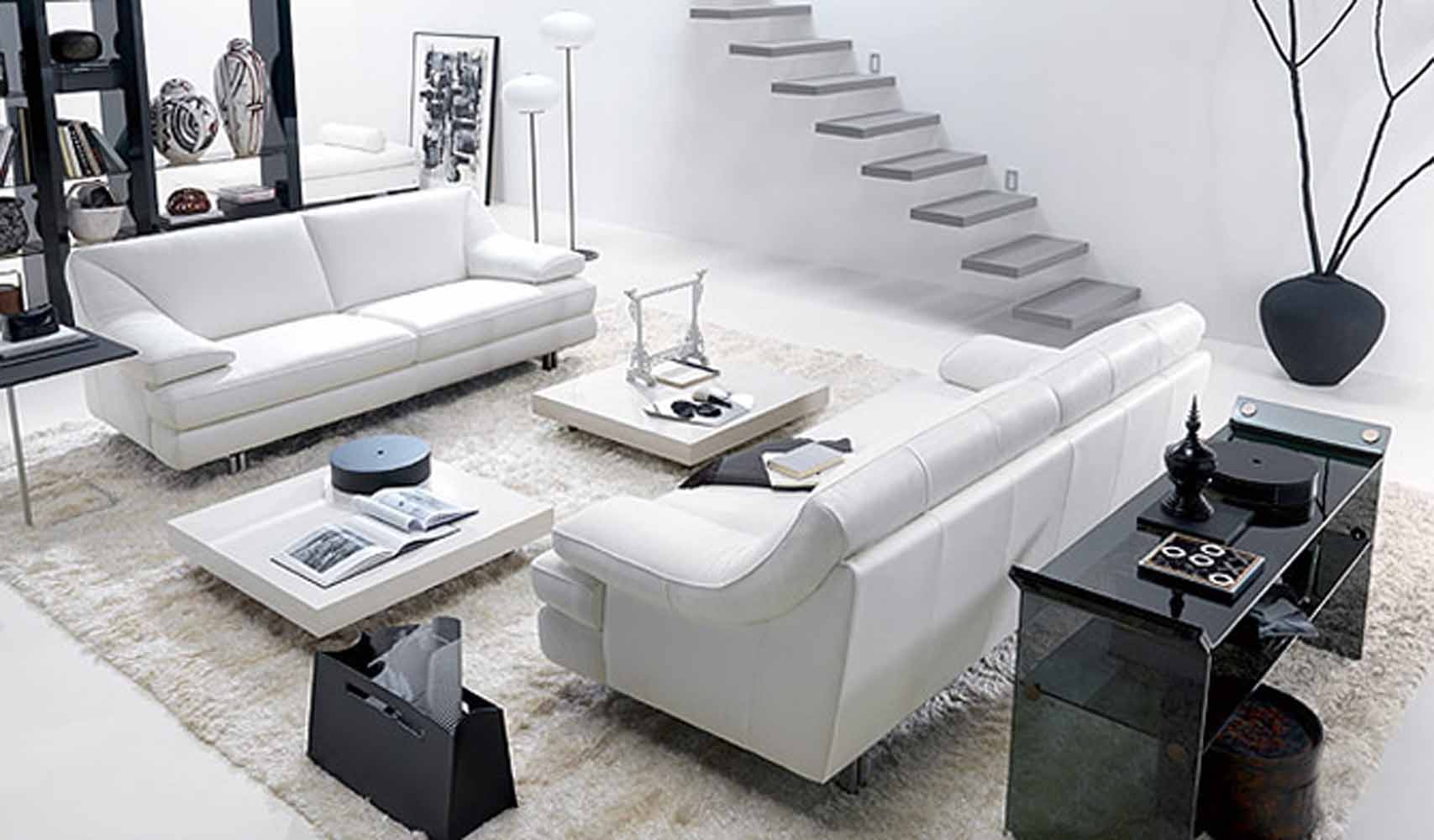 White Living Room 52 ideas of black and white living rooms - hawk haven