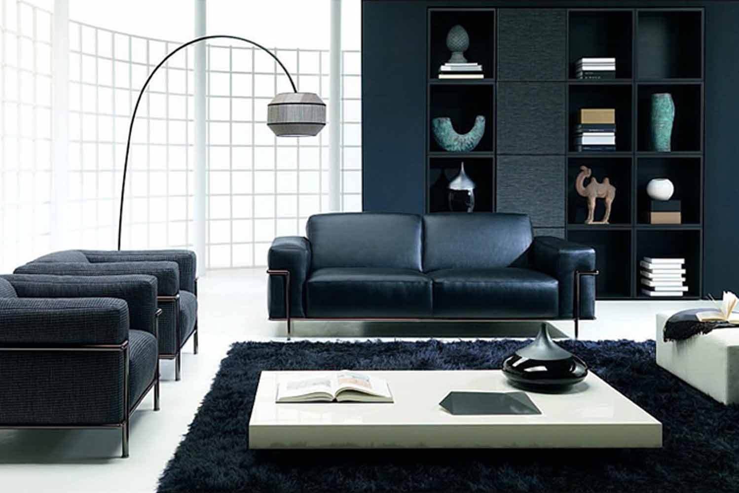 Ideas Of Black And White Living Rooms Hawk Haven - Black and white chairs living room