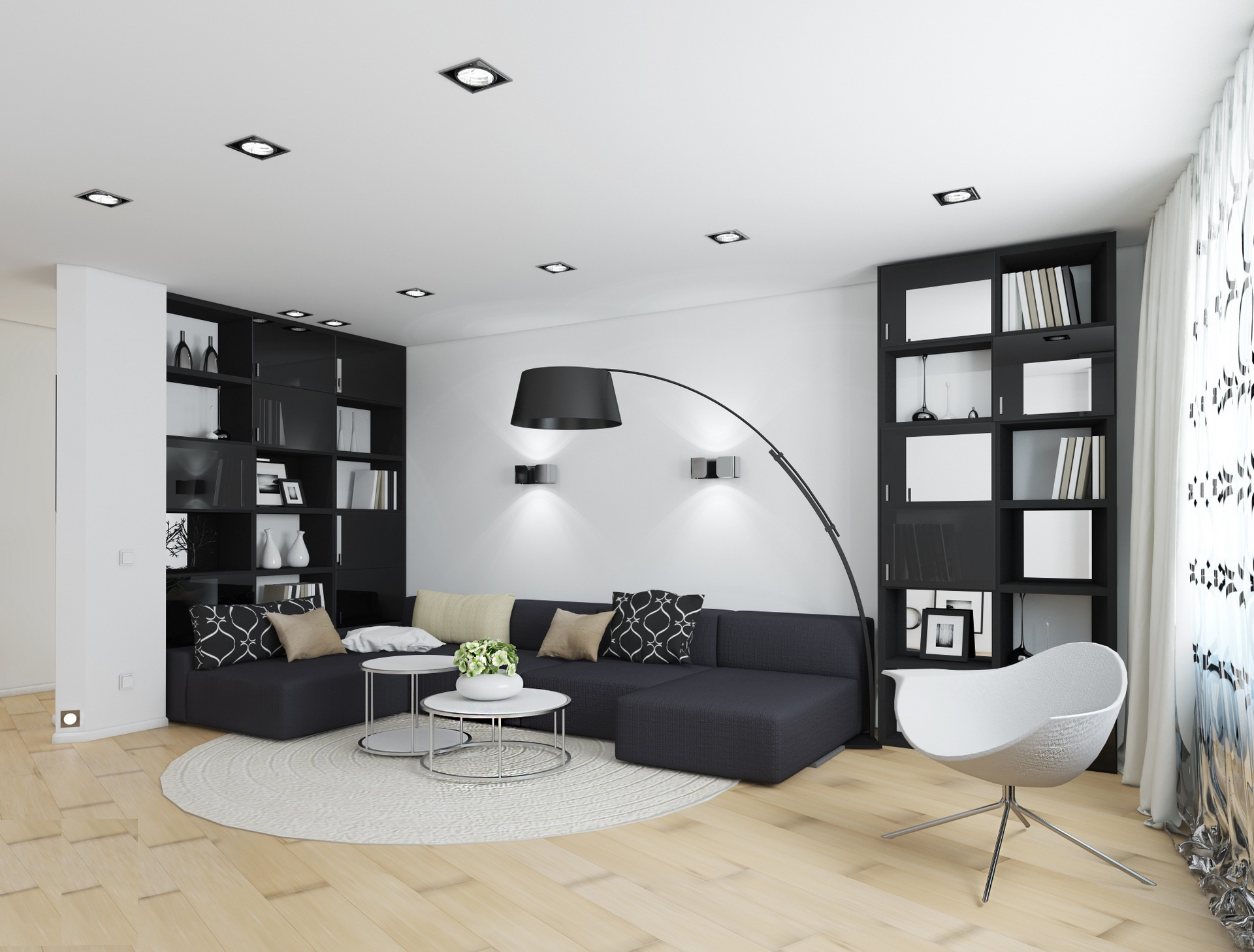 52 Ideas Of Black And White Living Rooms Hawk Haven