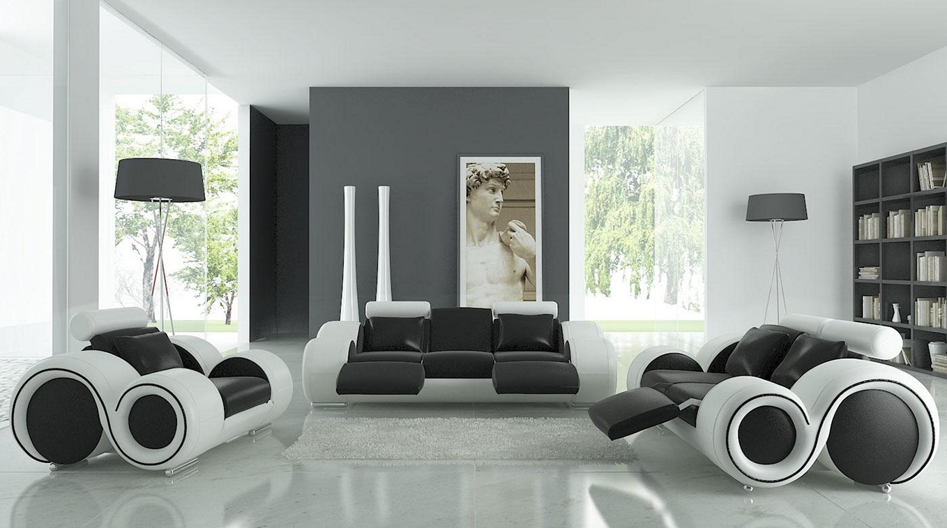 White Living Room Ideas 52 ideas of black and white living rooms - hawk haven
