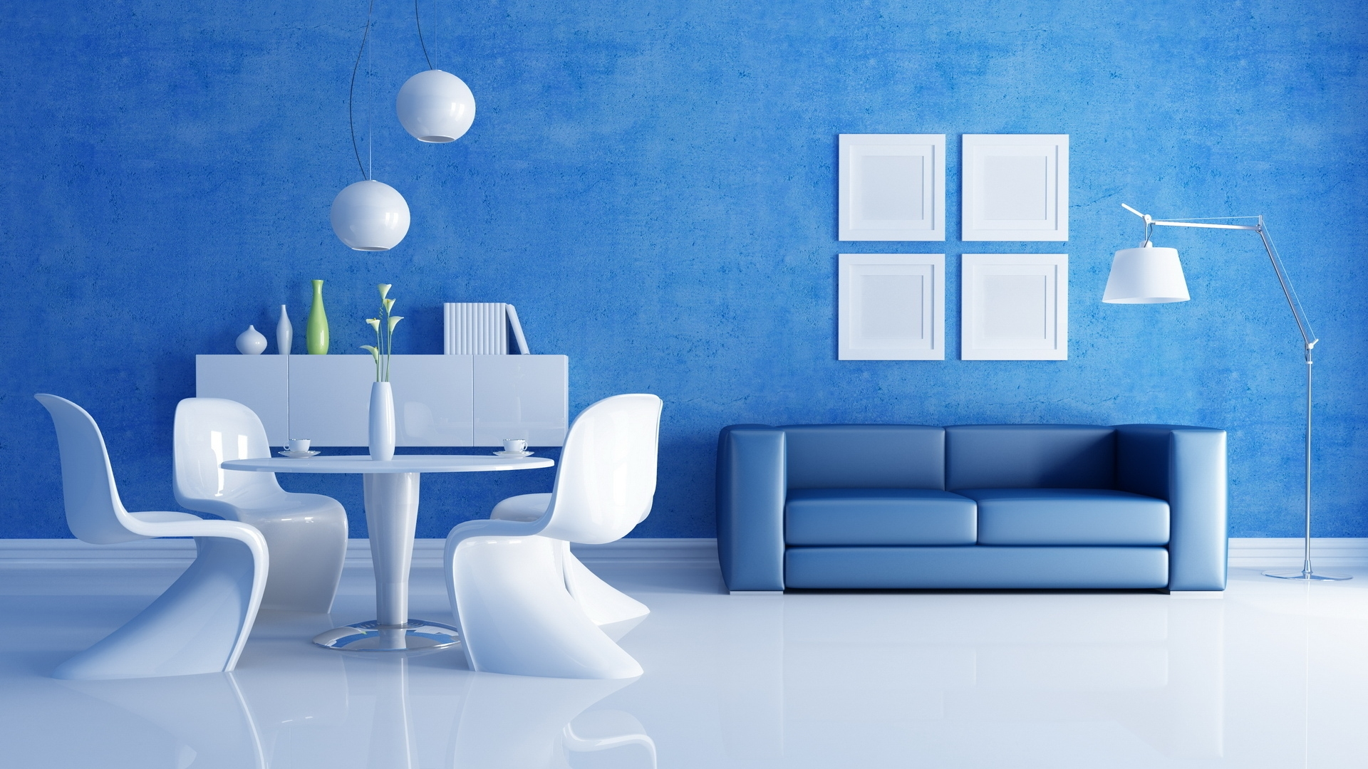 Blue living room - 35 shades of blue | Hawk Haven