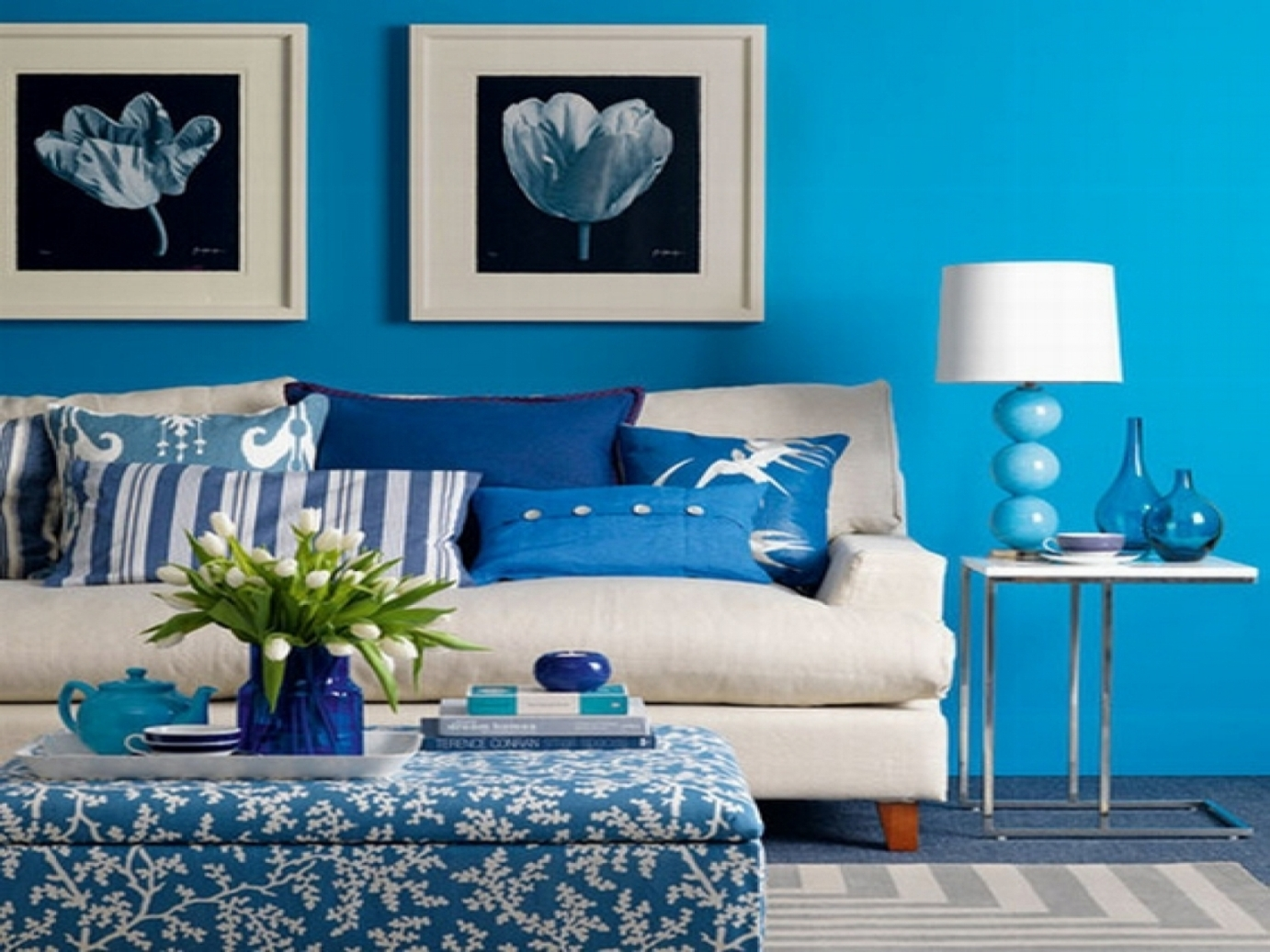 Living Room Color Shades Blue Color Combination For Bedroom