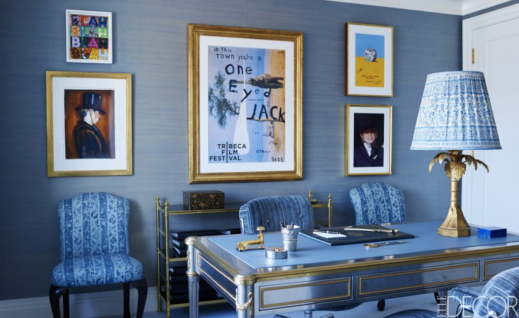 Blue living room – 35 shades of blue