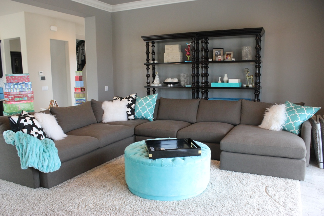 tiffany blue living room – modern house