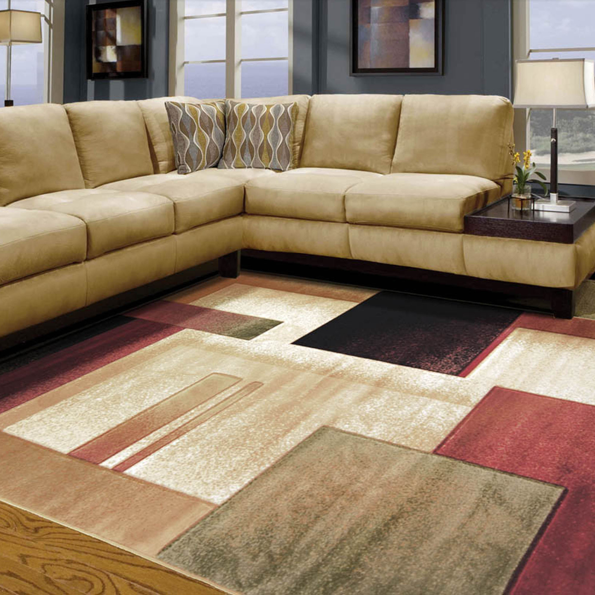 Living room rug - 18 rules for right choosing | Hawk Haven