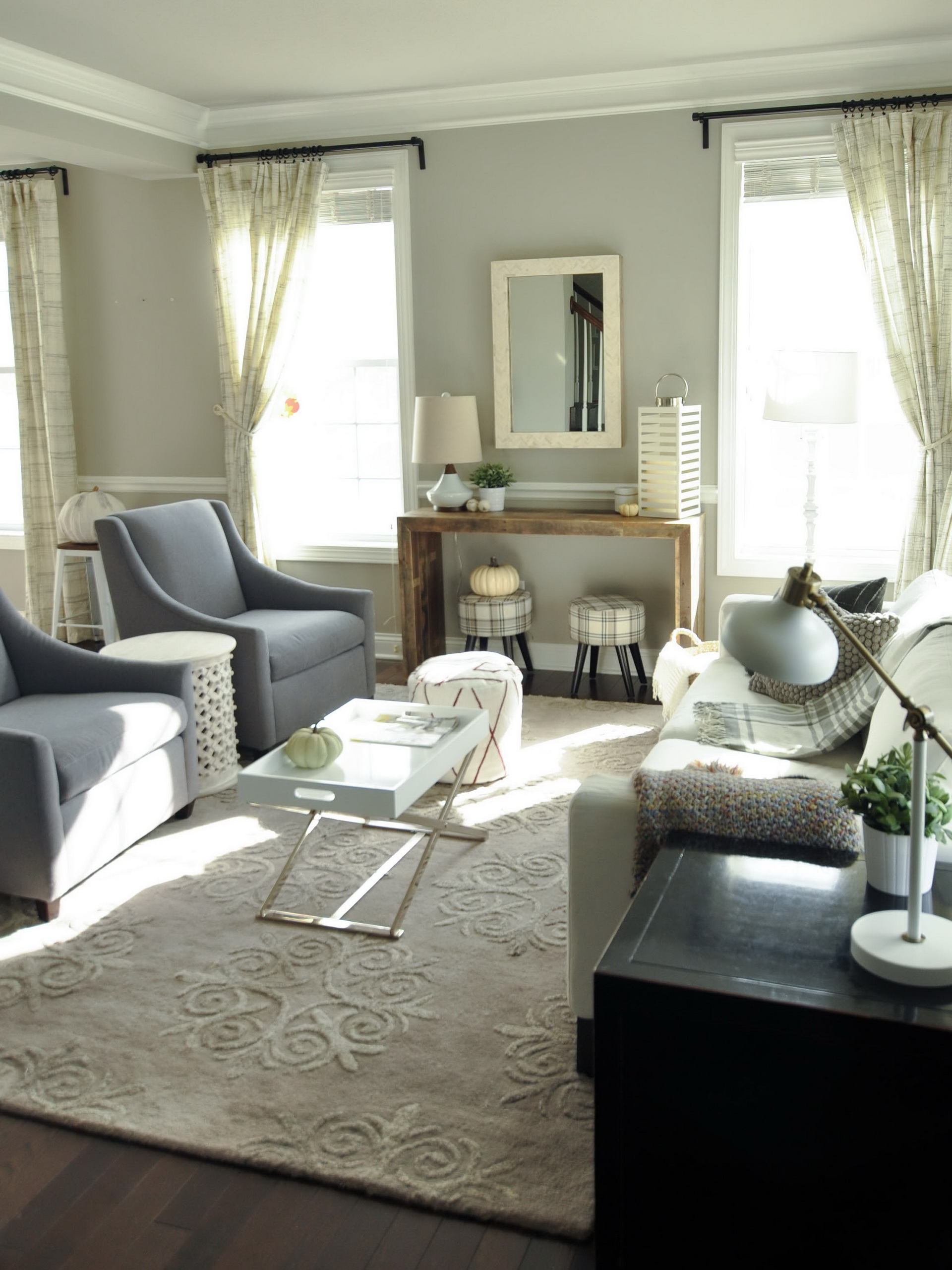 room seem more inviting but it also gives the room a personality of