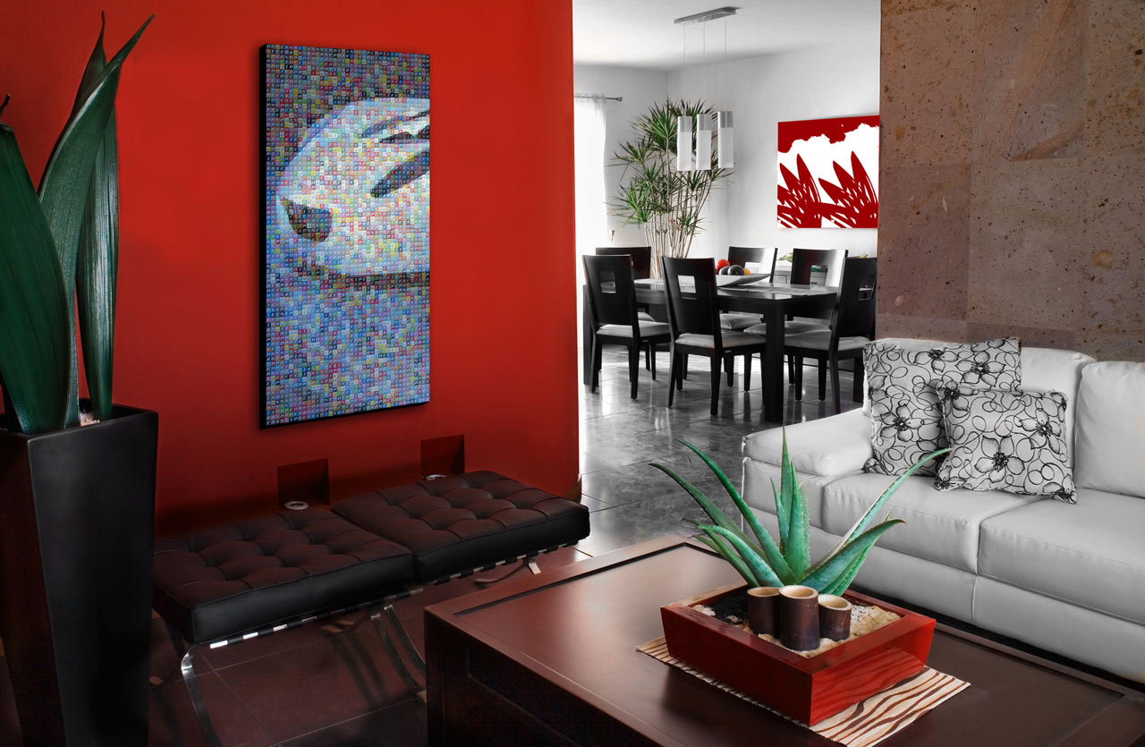 Modern Living Room Red living room art - 20 methods to make a bare room pop - page 3 of