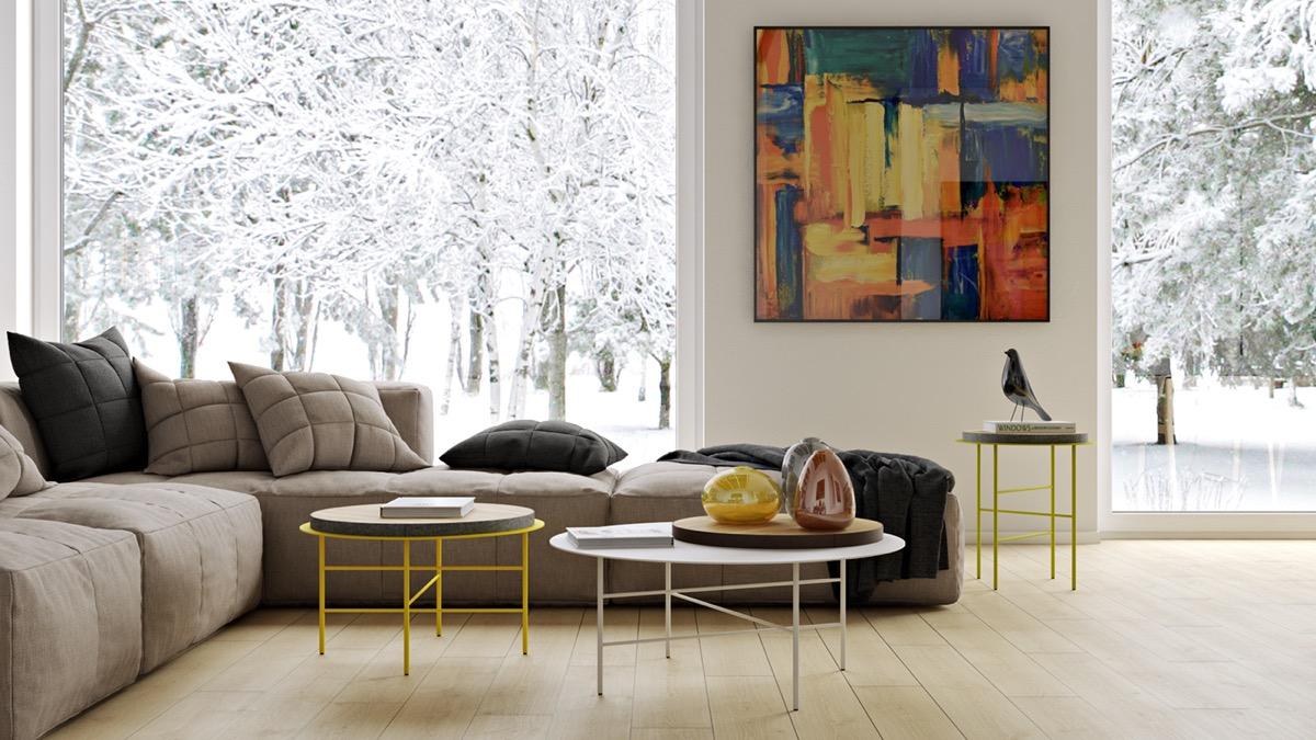 Living Room Art Living Room Art   20 Methods To Make A Bare Room Pop   Part 49