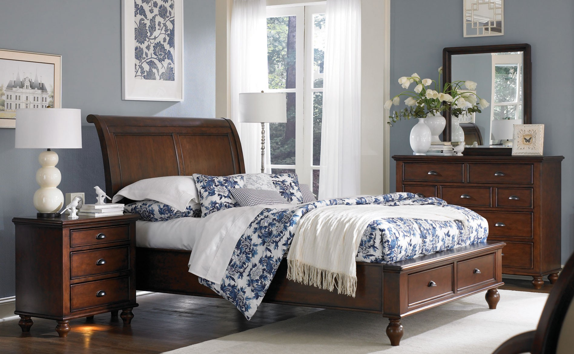 bedroom ideas cherry furniture | hawk haven