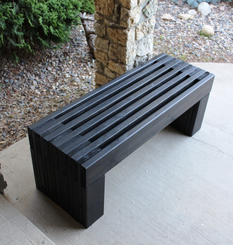 Contemporary garden bench plans