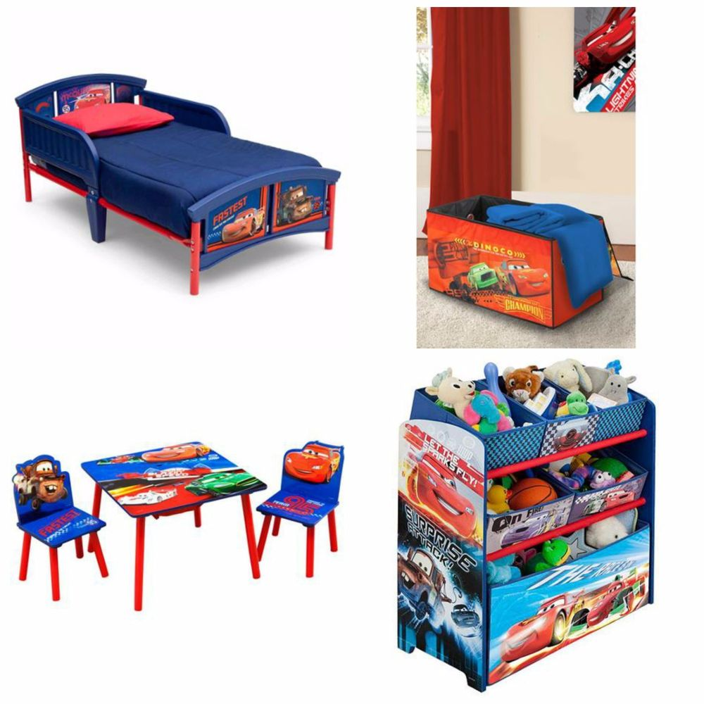 Have your kids ready to race to bed with a disney car bed