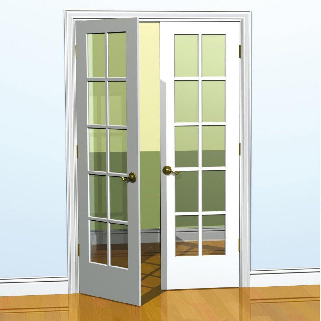 French Double Doors Interior