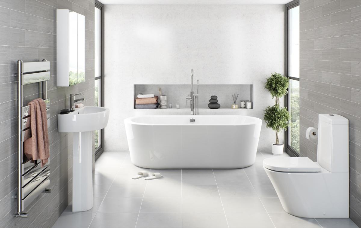Grey spa bathroom ideas | Hawk Haven