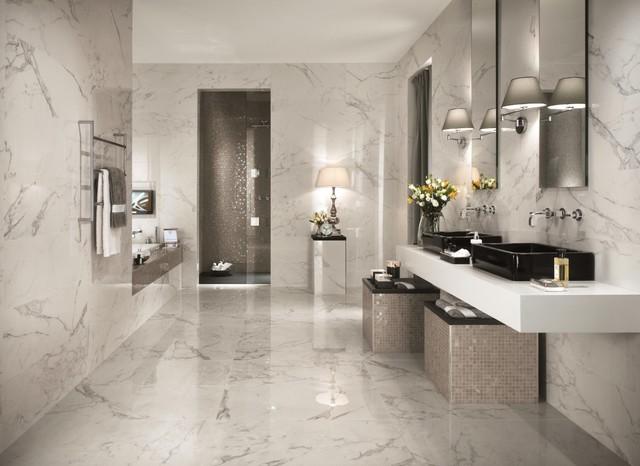 Italian porcelain tile bathroom