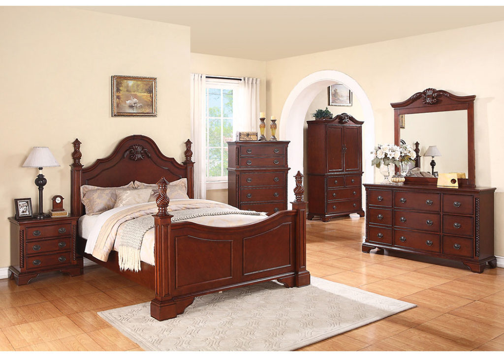 Decorate your sleeping room using the Jerusalem furniture bedroom sets