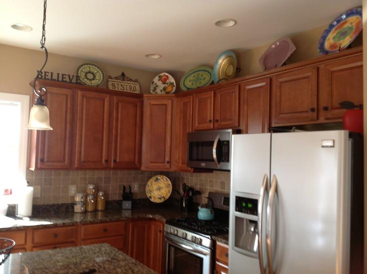 Kitchen decor ideas cabinet tops