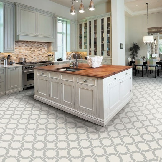 Tile Ideas For White Kitchen: Kitchen Floor Tile Ideas With White Cabinets
