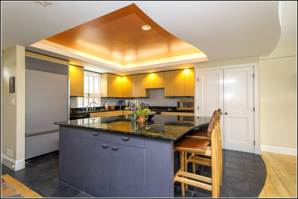 L shaped kitchen lighting plan
