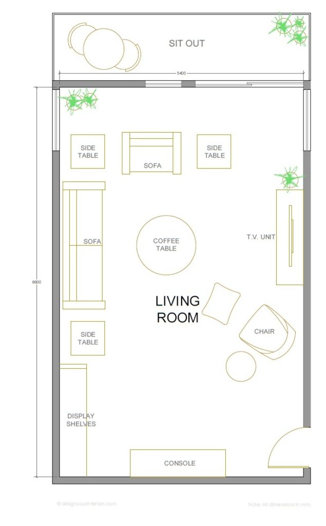 Living room design layouts