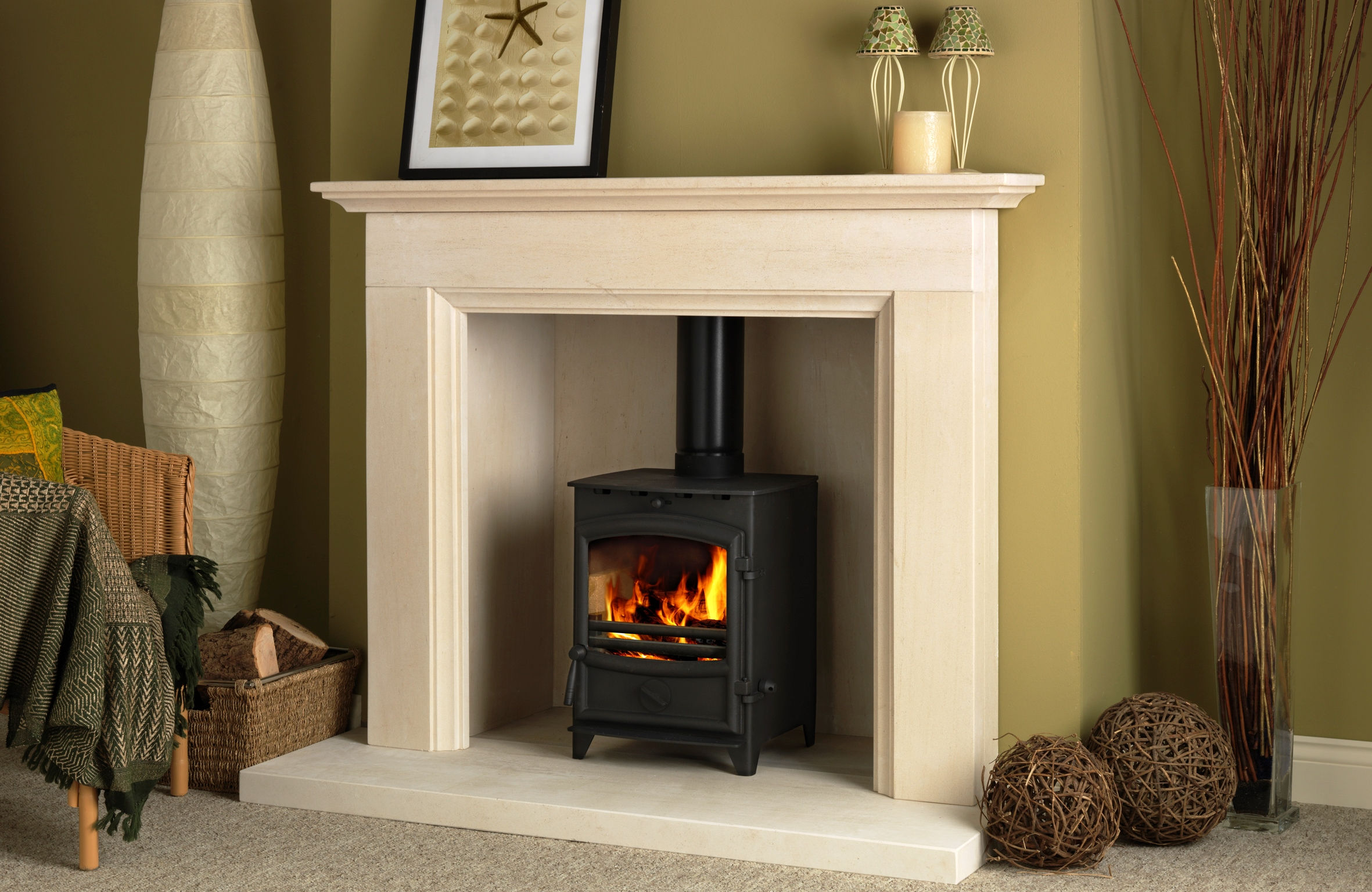 Marble fire surrounds for wood burners | Hawk Haven