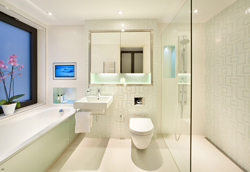 Modern home bathroom design
