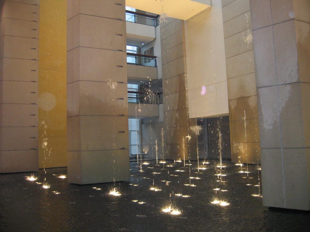 Modern water fountains indoor