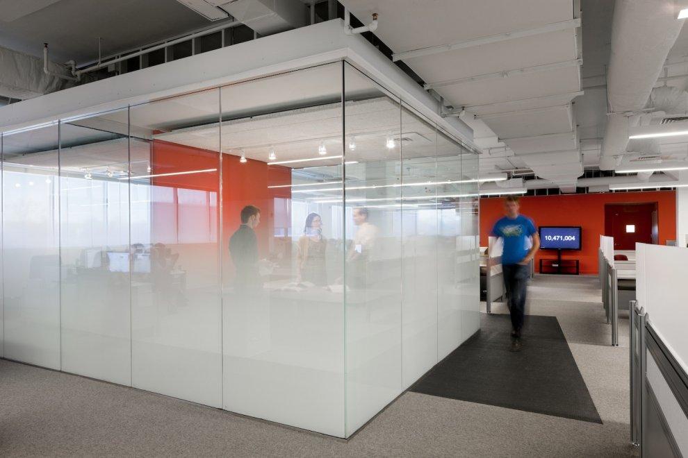 Office design glass walls