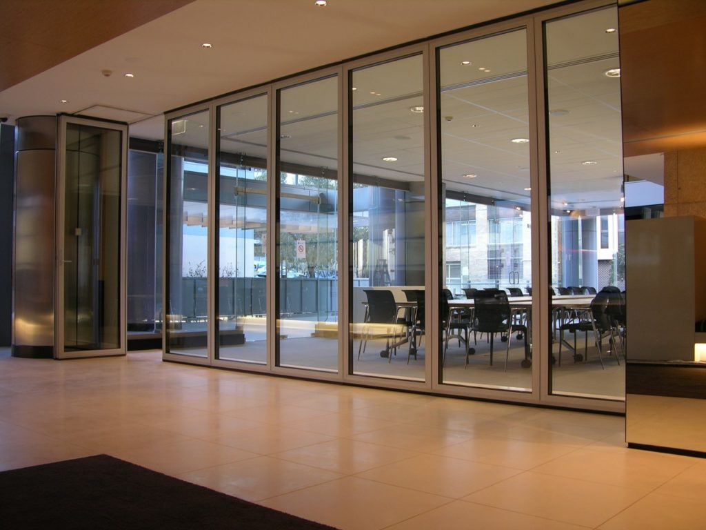 Office partition glass walls