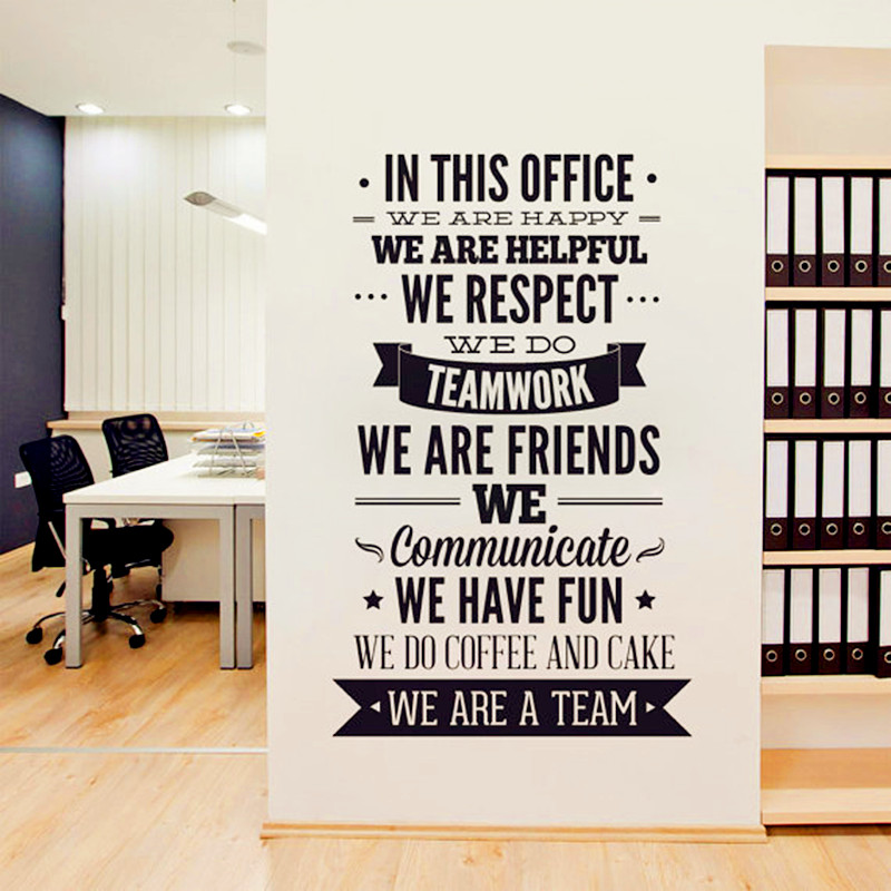 Office wall decor stickers