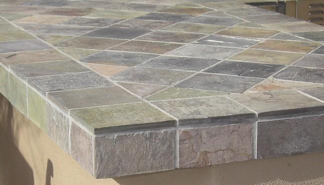 Outdoor bar tile designs | Hawk Haven