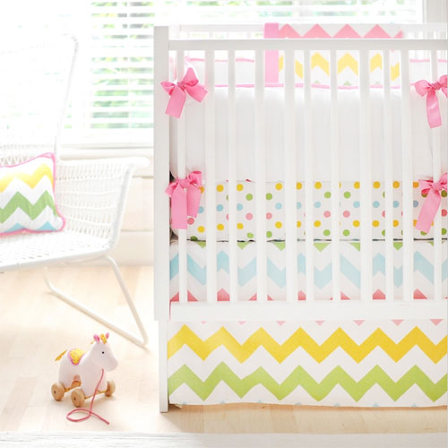 Consider Rainbow Crib Bedding