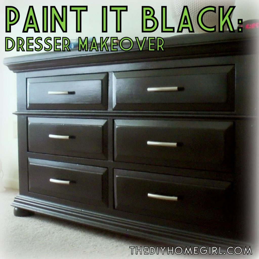 All About refinishing bedroom furniture black