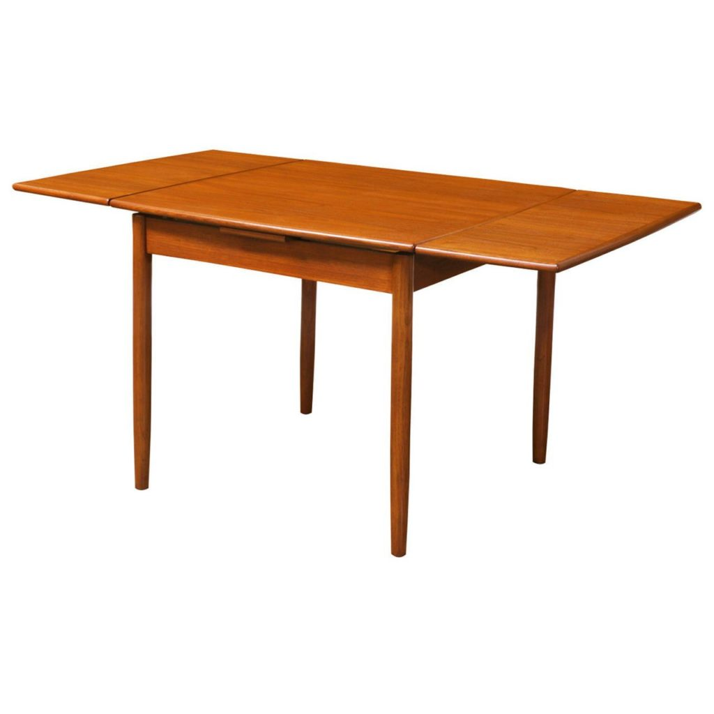 Square dining table with leaves