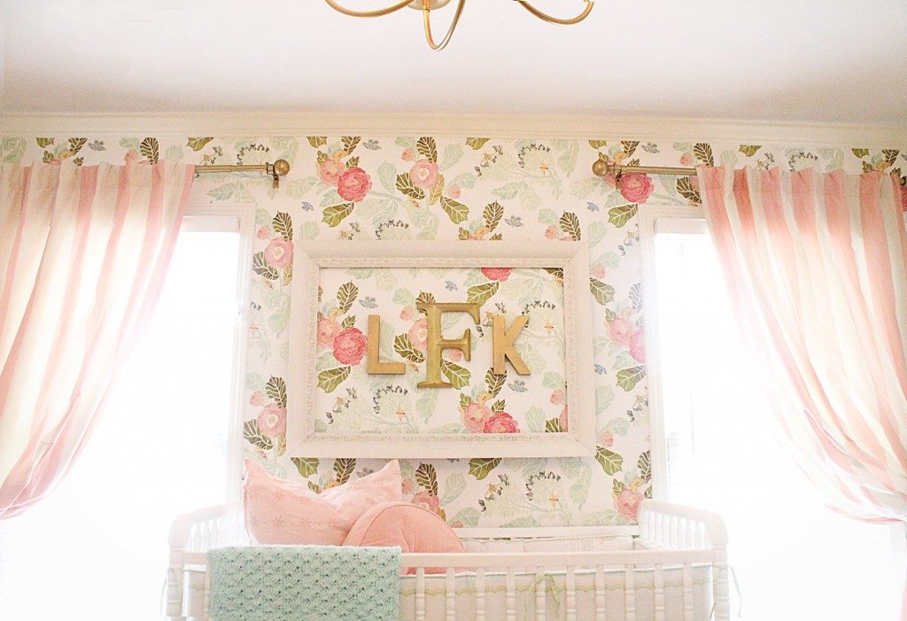 Vintage baby room wallpaper