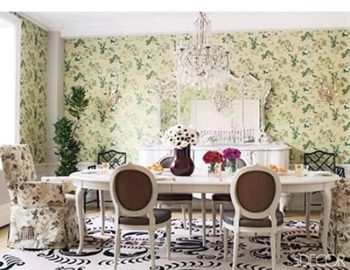 Vintage wallpaper for dining room