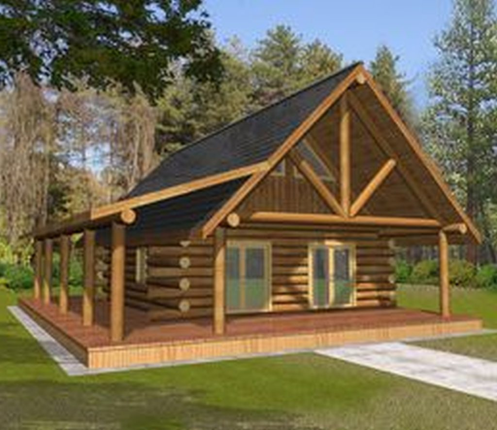 Wooden country house plans