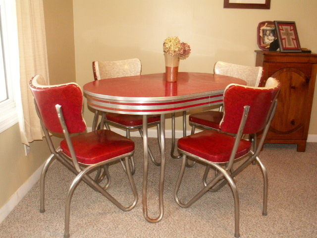 1950メs retro kitchen table chairs photo - 1