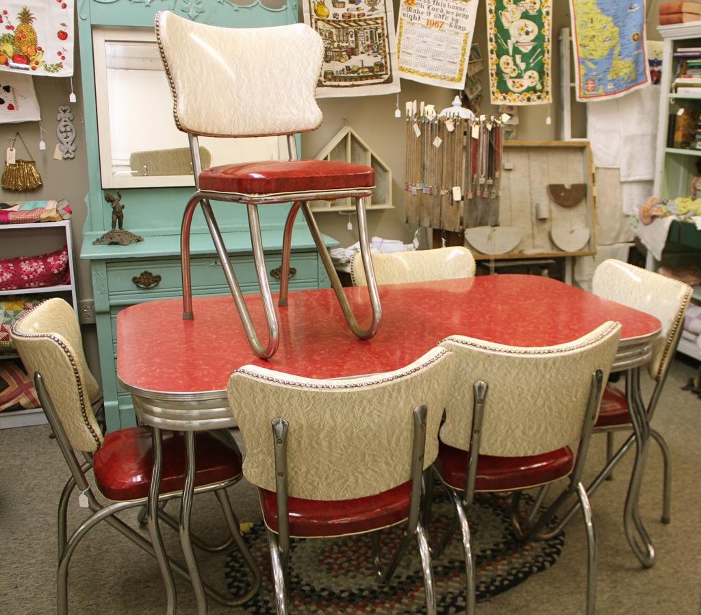 1950メs retro kitchen table chairs photo - 3