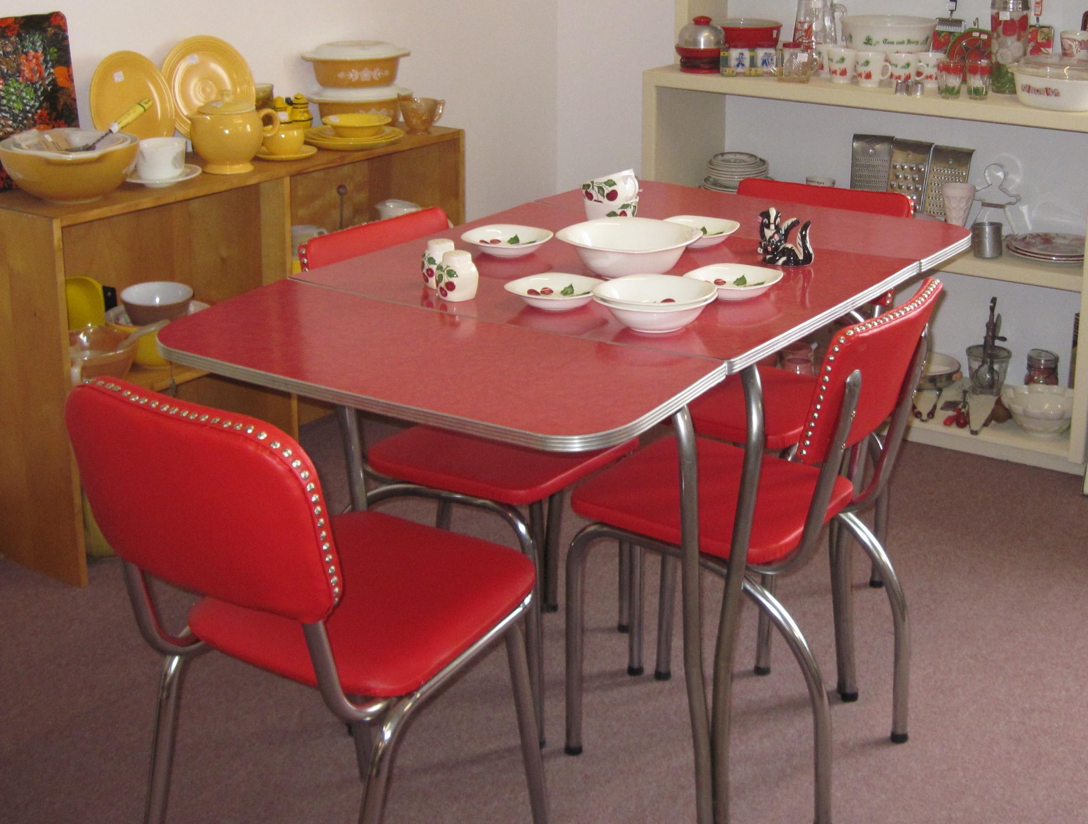1950メs retro kitchen table chairs photo - 8