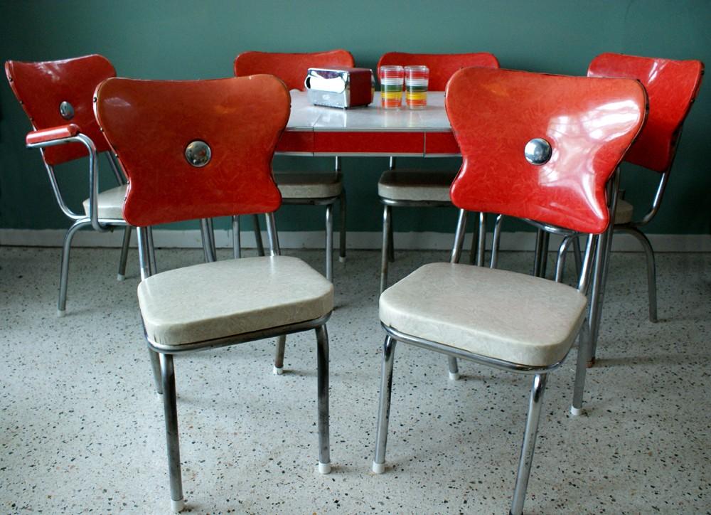 1950メs retro kitchen table chairs photo - 9