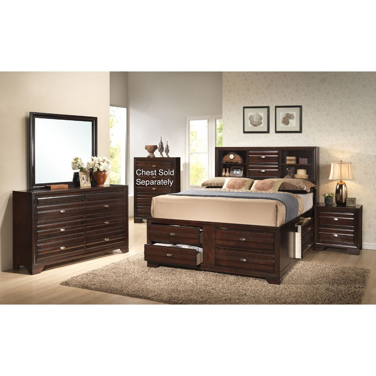 7 piece bedroom furniture sets photo - 1