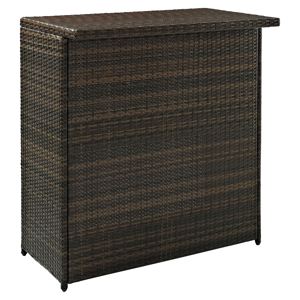 Bar Harbor Outdoor Wicker Accent Table photo - 9
