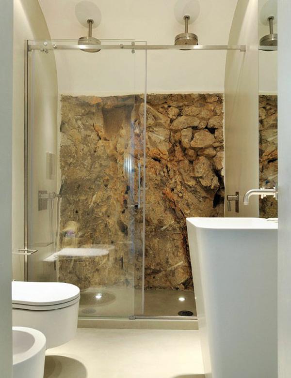 Bathroom Stone Wall Design photo - 6