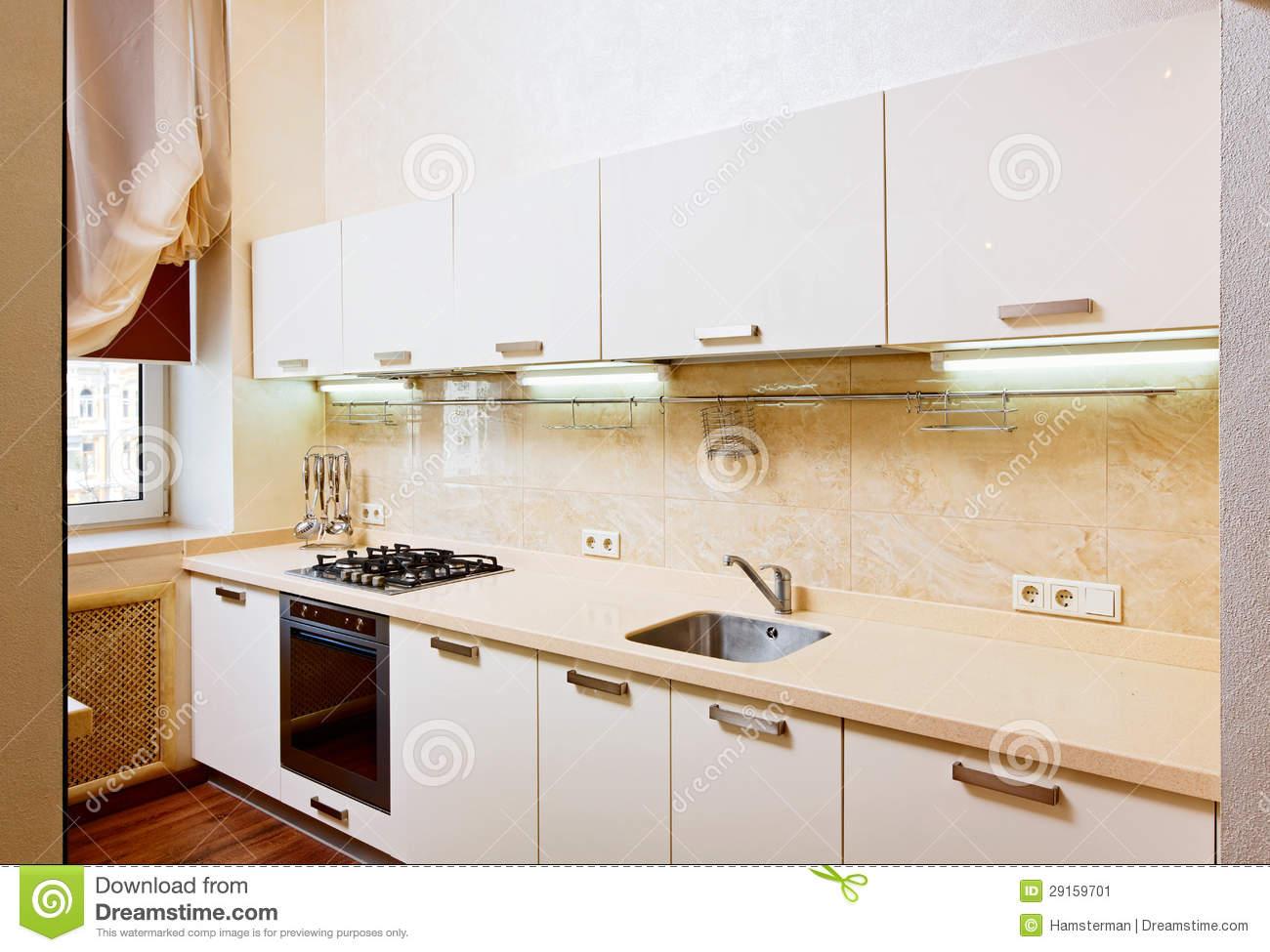 Beige Kitchen Interior photo - 5