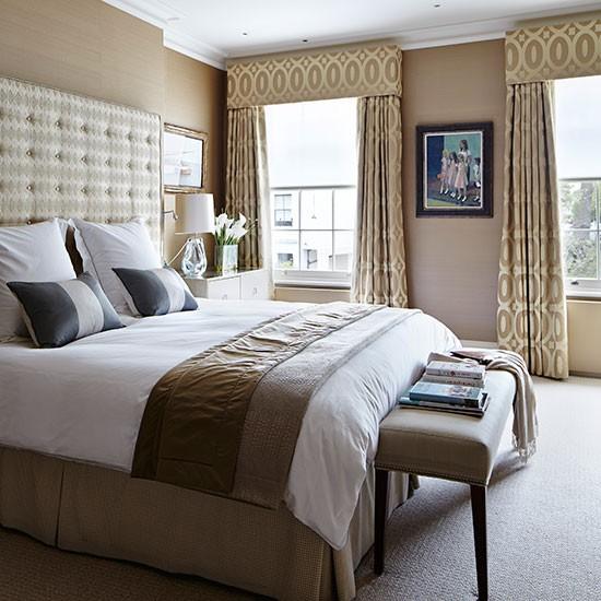 Beige and Brown Bedroom photo - 1