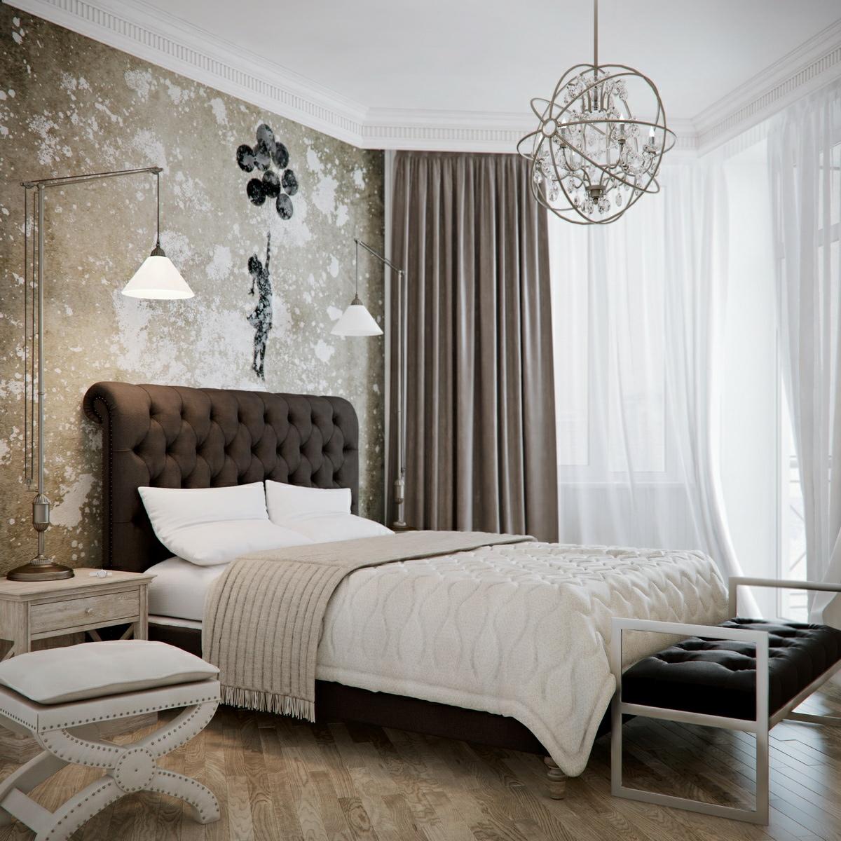 Beige and Brown Bedroom photo - 5